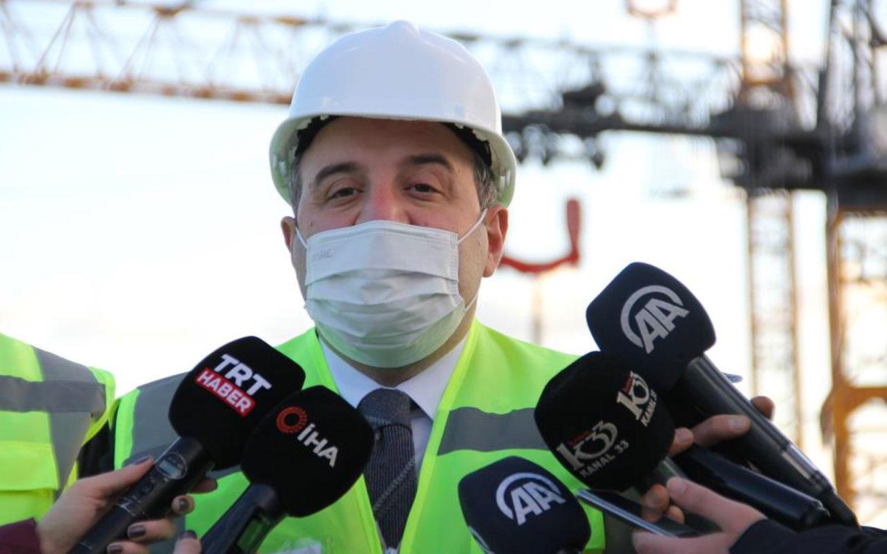 Bakan Mustafa Varank Akkuyu Nükleer Santrali'nden elektrik üretimi için tarih verdi