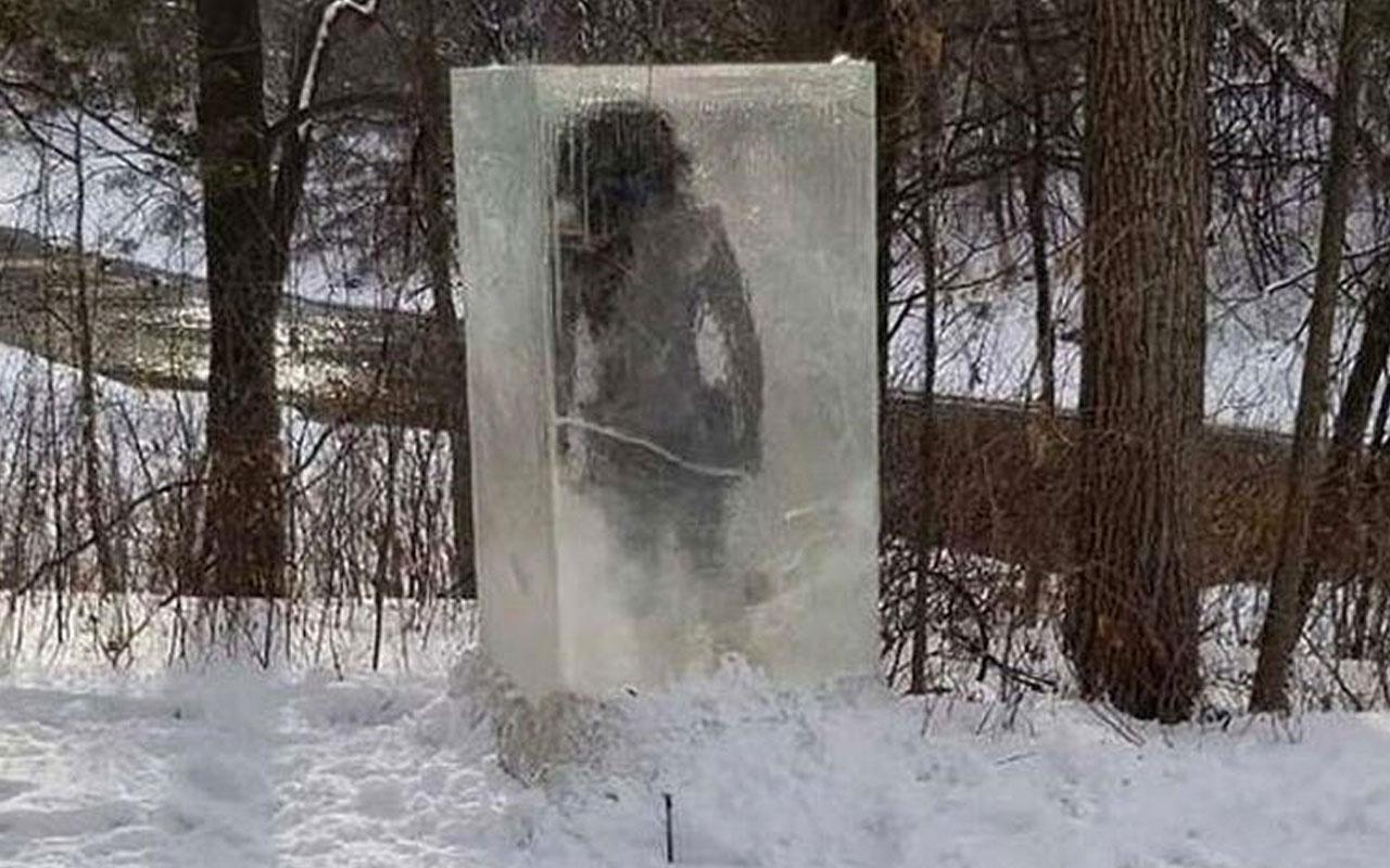 Parkta donmuş halde 'mağara adamı' bulundu! Meğer gerçek çok başkaymış