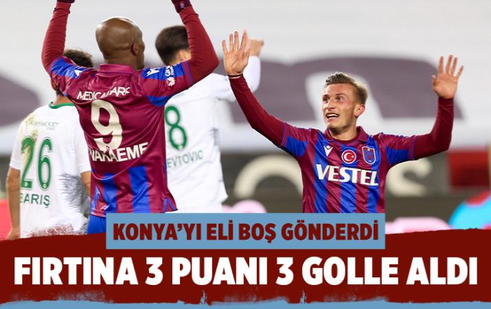Trabzonspor konuk ettiği Konyaspor'u rahat geçti