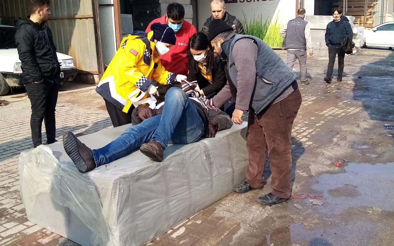 Görülmemiş olay! Bursa'da üzerine sünger düştü kemikleri kırıldı