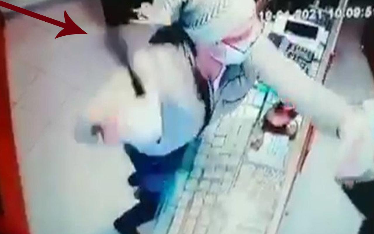 Silivri'de kuyumcuya soygun girişiminin görüntüleri ortaya çıktı copla saldırdı