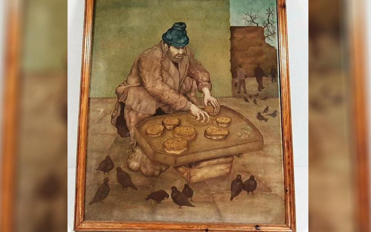 Kırklareli'nde 'Kuşlara yem hazırlayan adam' tablosunu 750 bin dolara satarken yakalandı