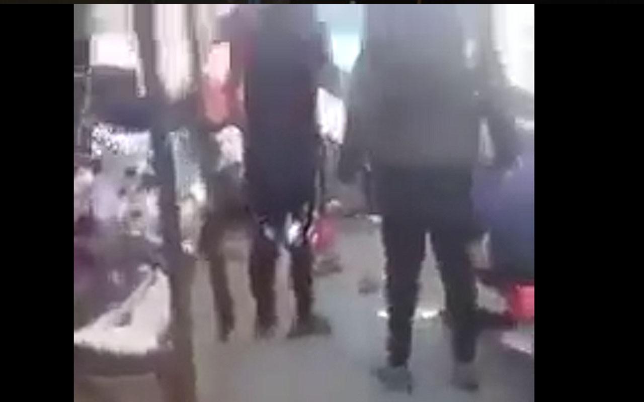 Bağdat'ta bombalı saldırı anı