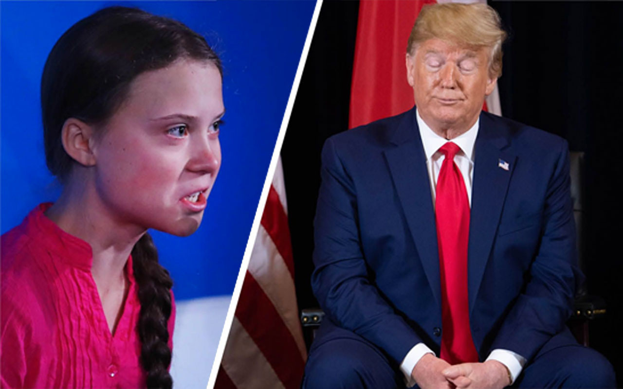 İklim aktivisti Greta Thunberg, Donald Trump'ı kendi sözleriyle vurdu