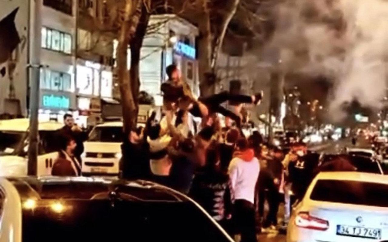 Asker uğurlama terörü kamerada! Yasağa rağmen İstanbul trafiğinin altını üstüne getirdiler