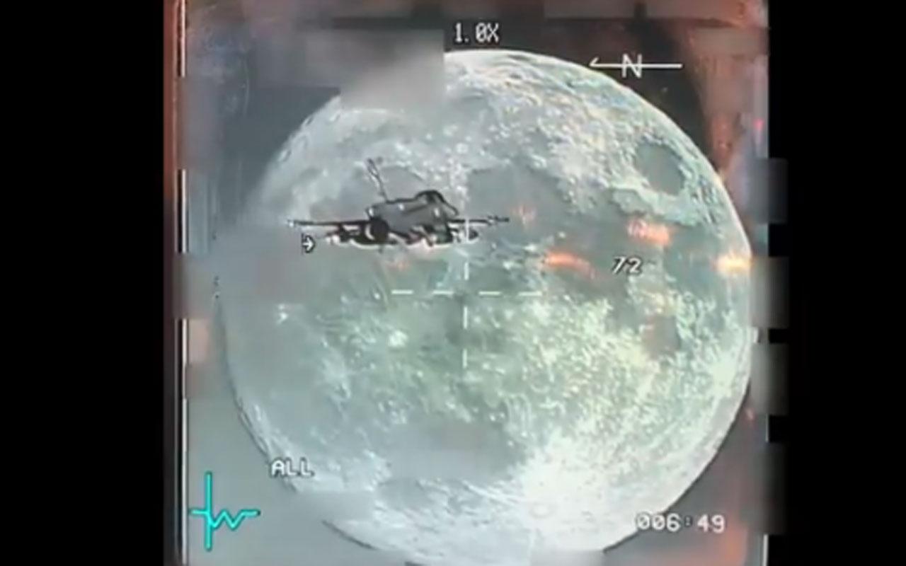 MSB F-16'nın gece uçuşunda görüntülediği dolunay videosunu paylaştı