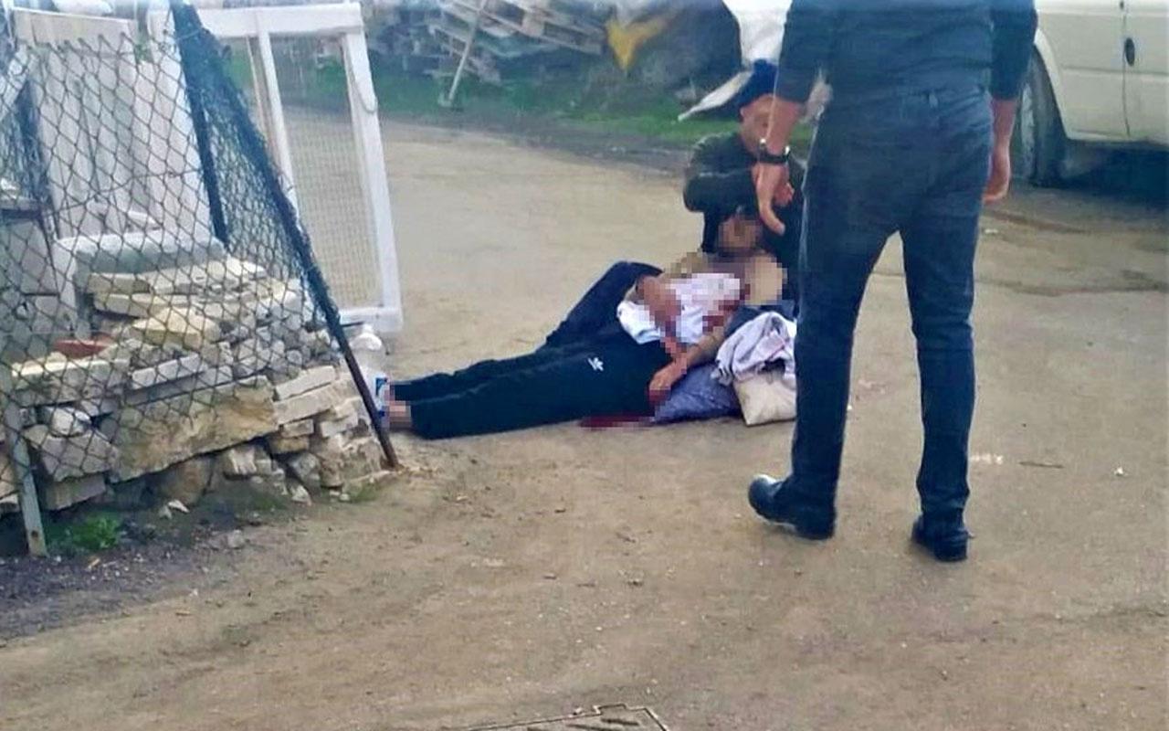 Denizli'de can çekişen oğlunu kucağından bırakmadı katil ağabey sadece izledi yürek yakan görüntü