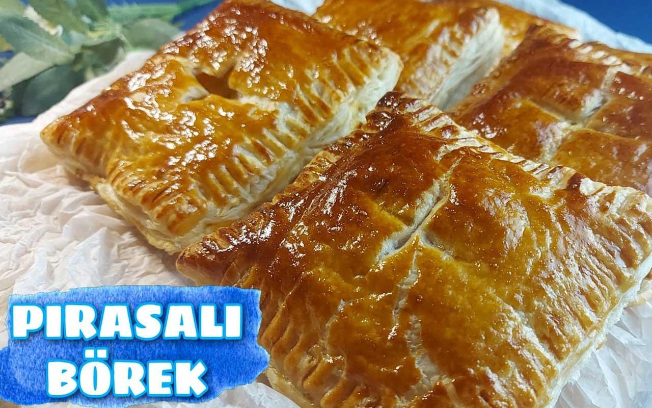 Pırasalı milföy börek nasıl yapılır pratik lezzet!