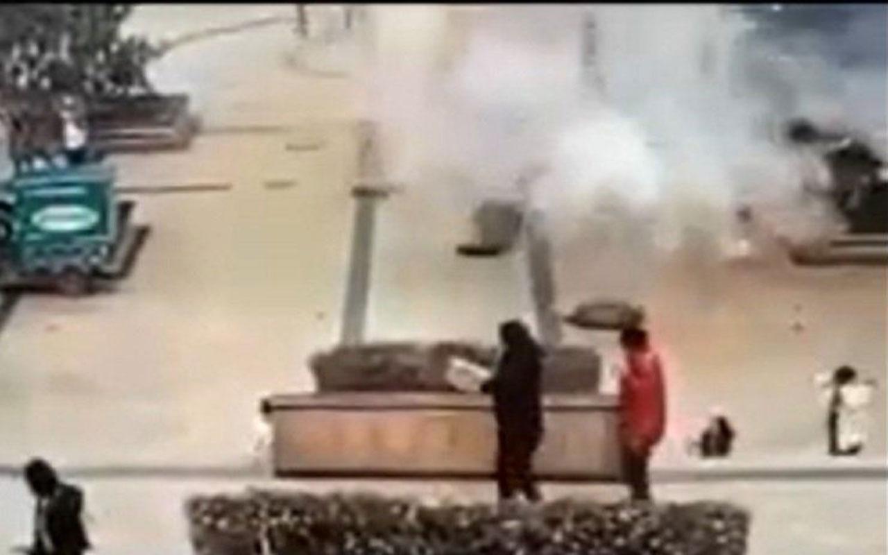 Çin'de bir çocuk kanalizasyona fişek attı ortalık savaş alanına döndü! Kanalizasyon kapakları uçuştu
