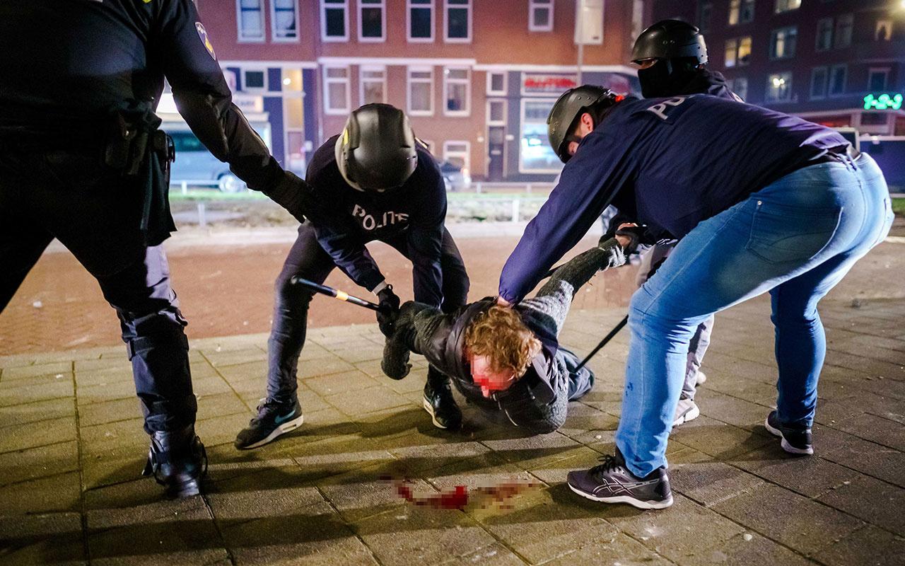 Avrupa'da kan donduran görüntü! Korona protestoları durdurulamıyor yağmalama başladı