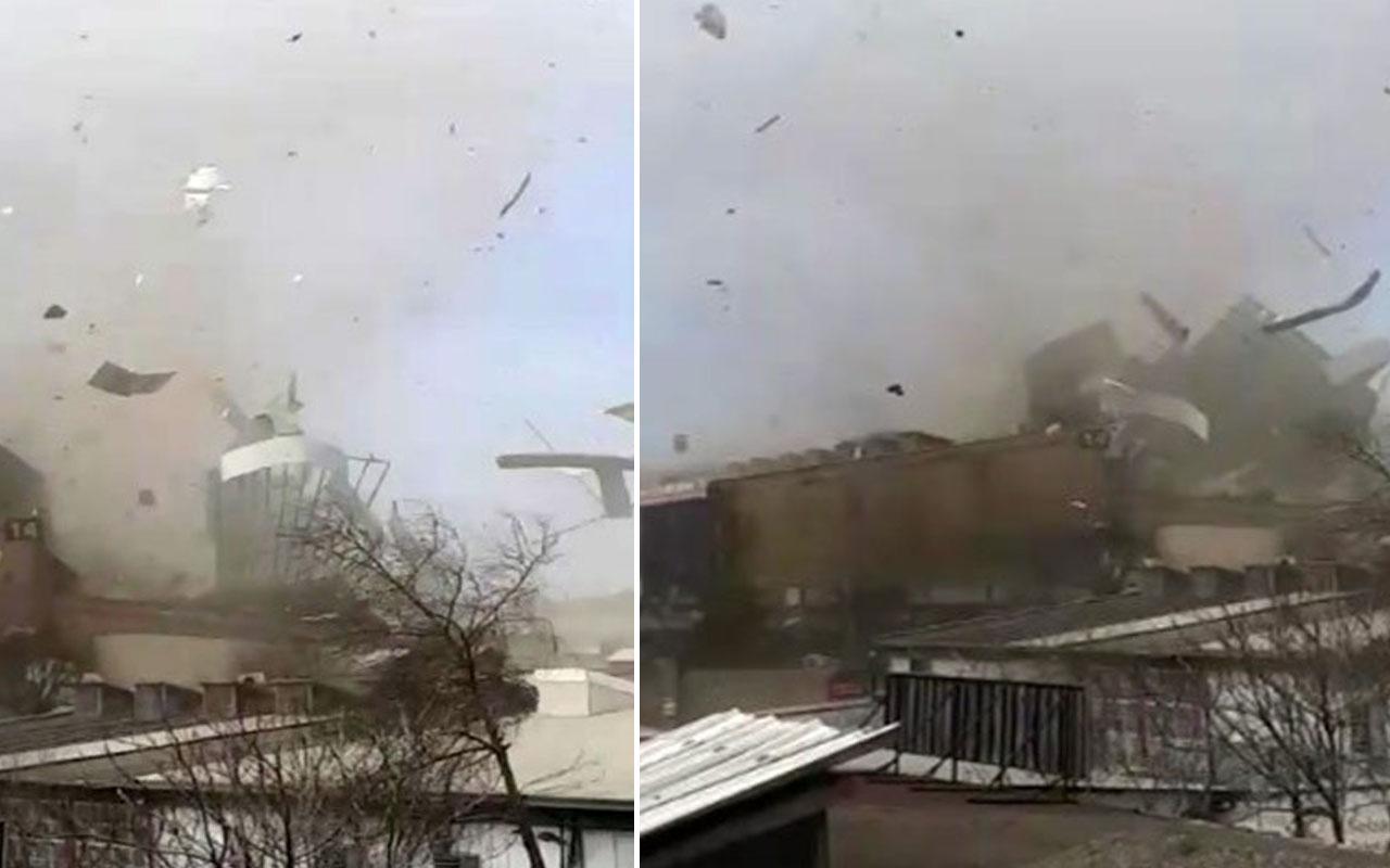 Bursa'da sanayi sitesinde hortum ne var ne yok uçurdu! 1 kişi ağır yaralandı