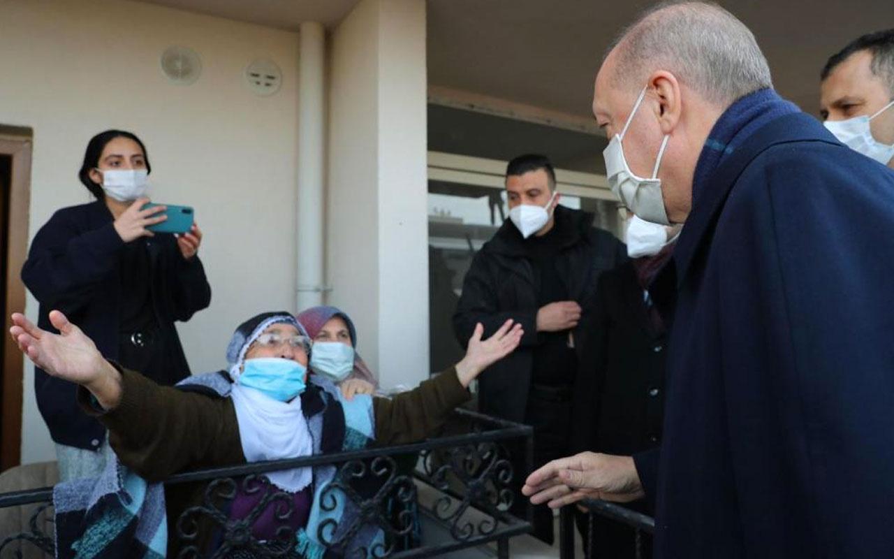 Cumhurbaşkanı Erdoğan'a 'ömründen ömrüne koya' diyen Rabia nine o anları anlattı