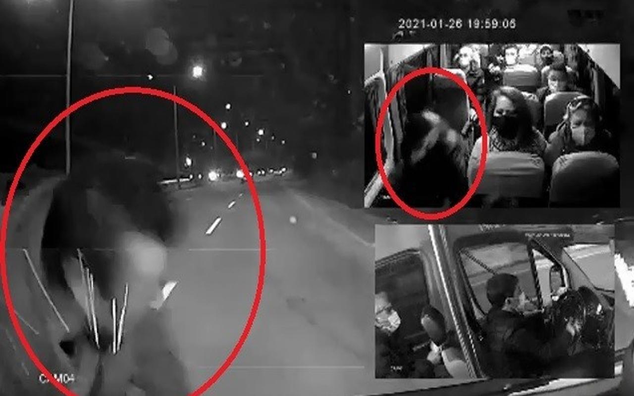 Bursa'da minibüste uyurken koltuktan fırladı! O anlar sosyal medyada olay oldu