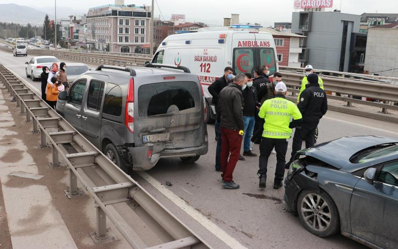 Kocaeli'de 6 araç birbirine girdi! Çocuklar yaralandı
