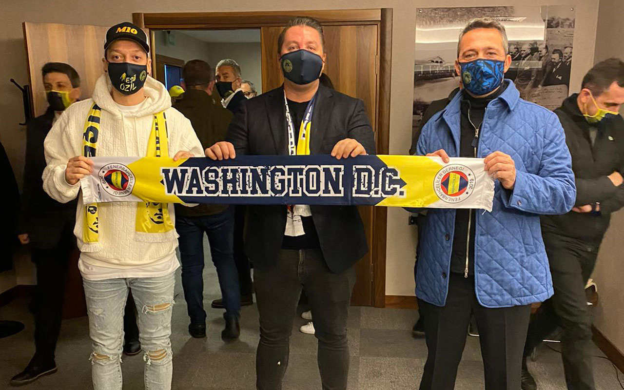 Mesut Özil ve Ali Koç'tan Washington DC United'a mesaj