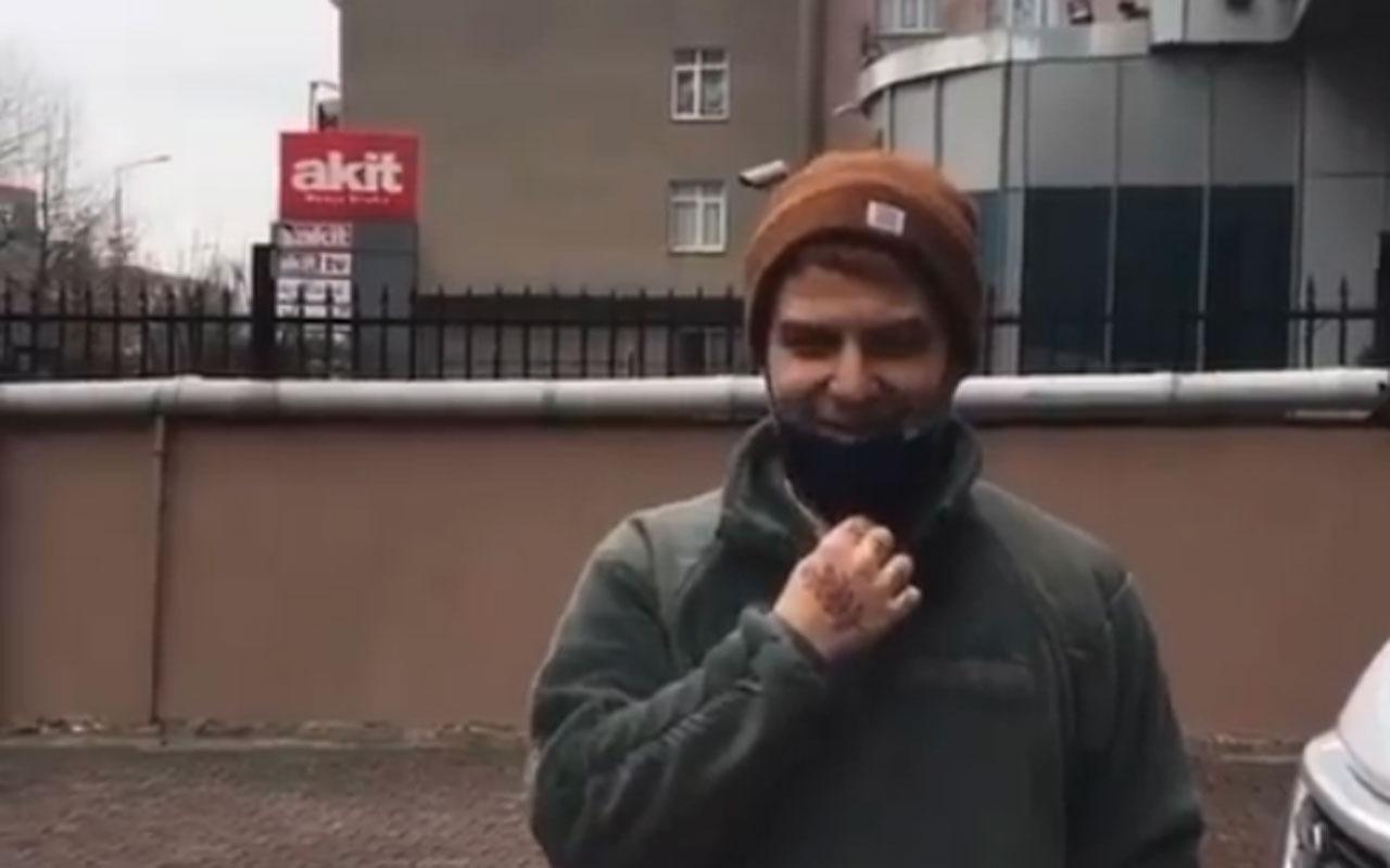 Gökhan Özoğuz'un Akit binası önünde çektiği video sosyal medyayı salladı