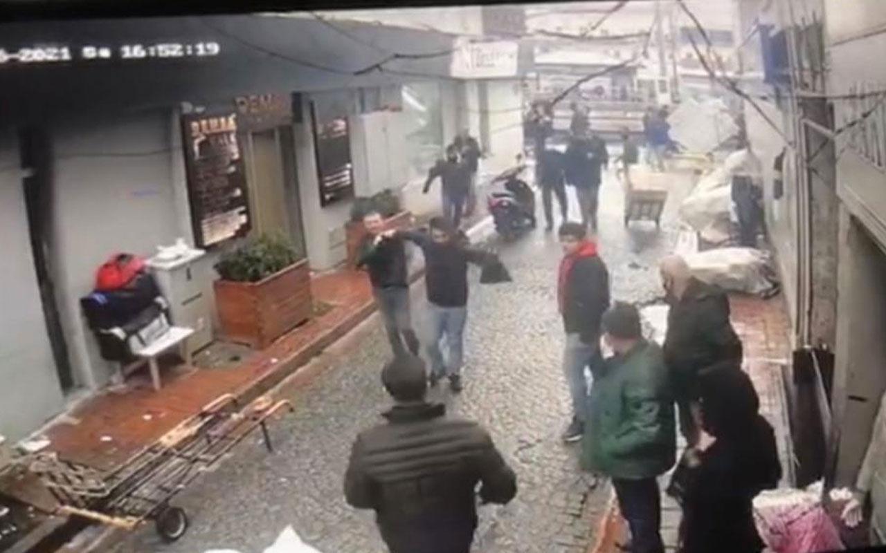İstanbul Beyazıt'ta hırsıza esnaf dayağı