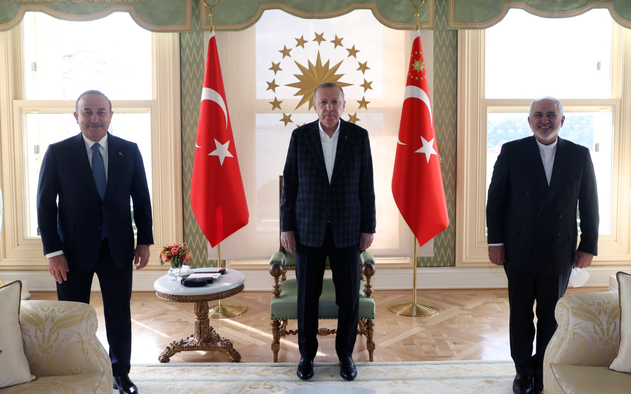 Cumhurbaşkanı Erdoğan'ın İran Dışişleri Bakanı Cevad Zarif'i kabulü sona erdi
