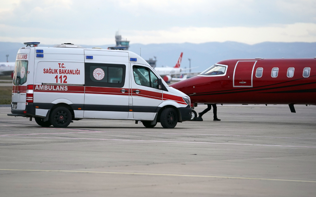Galatasaray'ın yeni transferi Gedson Fernandes ambulans uçakla İstanbul'a geldi