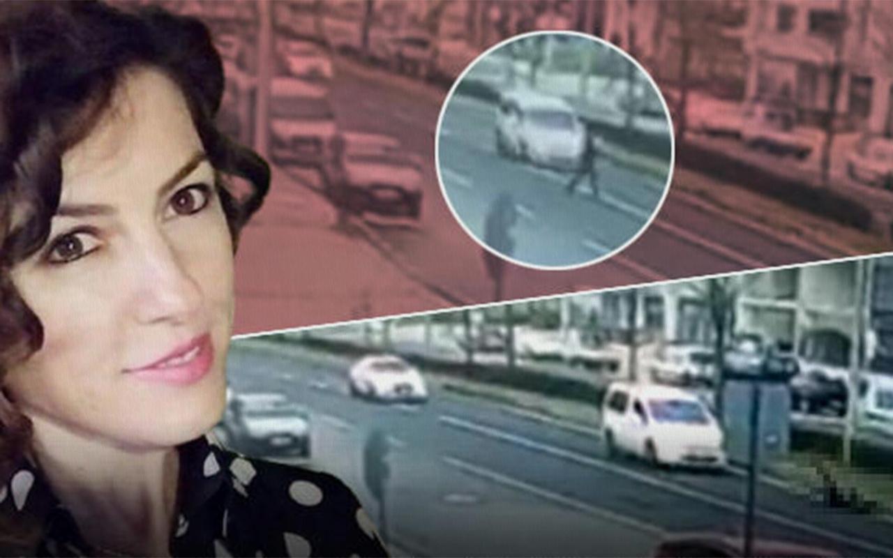 Tekirdağ Çorlu'da araç çarpan kadının hayatını kaybettiği kaza anı kamerada