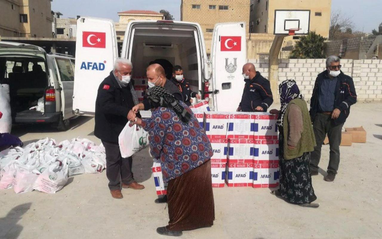 MSB'den Barış Pınarı bölgesindeki köylere erzak yardımı