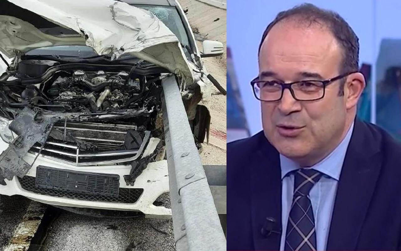 Konya'da bariyerlere saplanan otomobilde Prof. Dr. Kadir Okhan Akın öldü kızı yaralandı