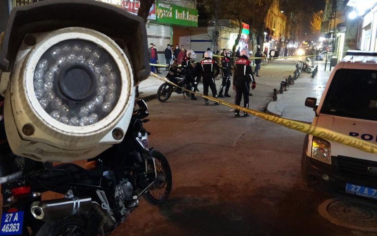 Gaziantep'te önce güvenlik kameralarını boyaladılar sonra tüfekle saldırdılar