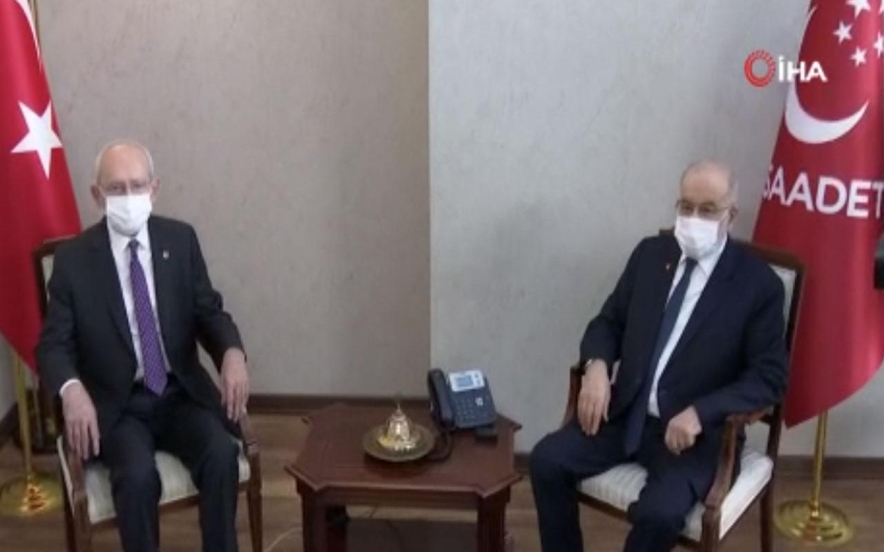 Kemal Kılıçdaroğlu'ndan Temel Karamollaoğlu'na ziyaret! Yeni anayasa açıklaması yaptı