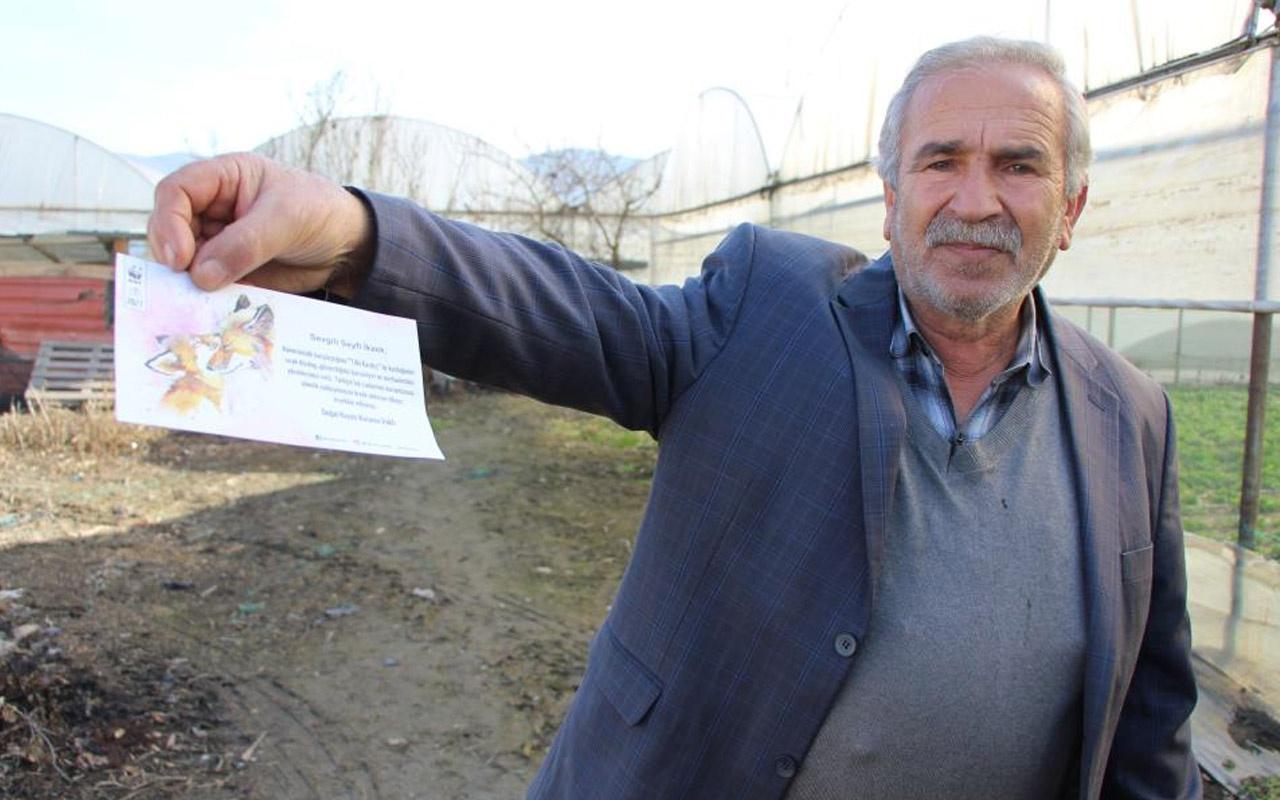Amasya'da 'tilki kardeş' demesiyle gündeme gelmişti! Teşekkür belgesine sevinemedi