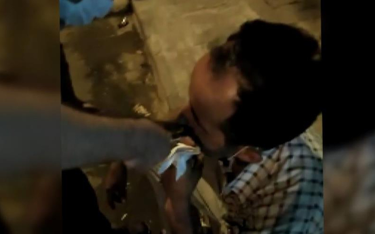 Kahramanmaraş'ta arkadaşının dişini penseyle çektiği anlar kamerada