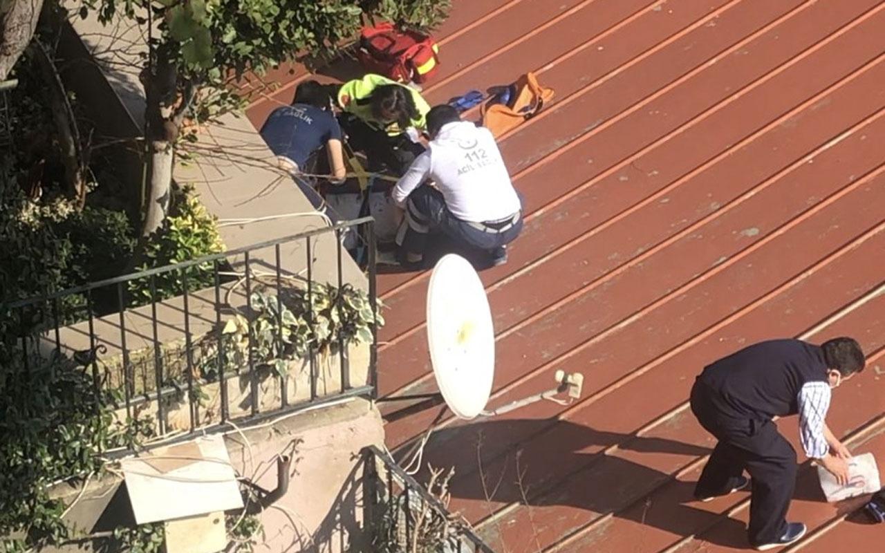 Beyoğlu'nda balkondan düşen kadını çanak anten kurtardı
