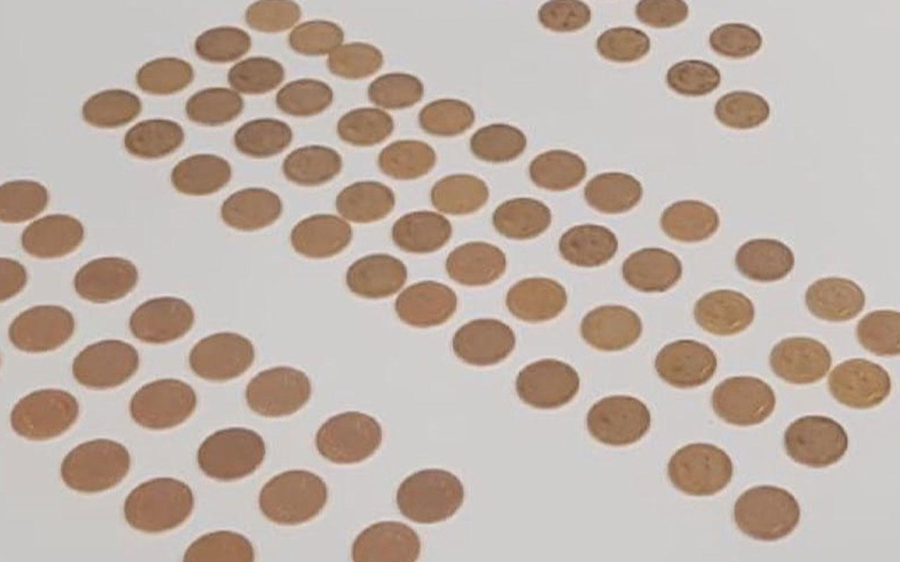 Napolyan'un altın paraları İstanbul'da yakalandı! Tam 153 adet