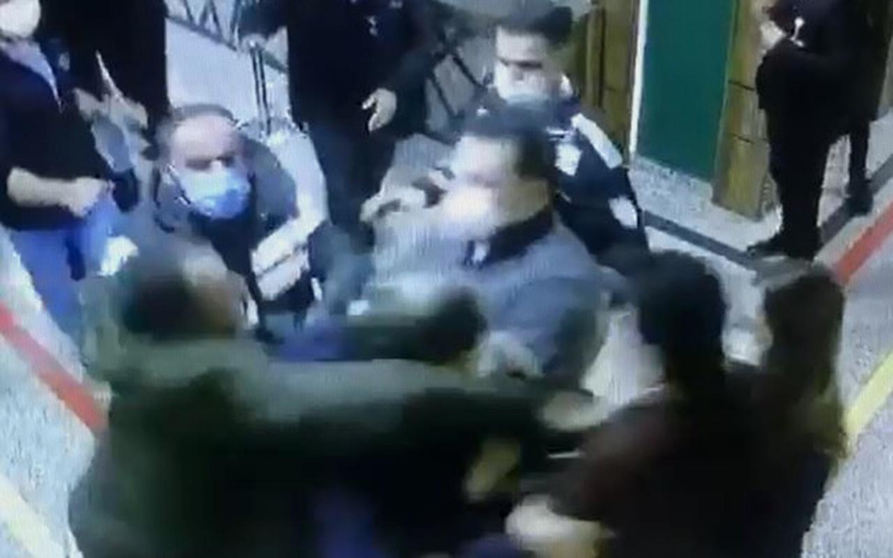 Gaziantep'te sağlık çalışanlarına saldırı kamerada