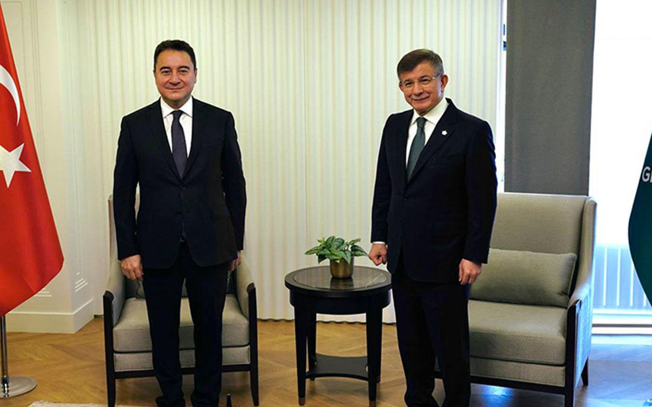 Ali Babacan Davutoğlu'nu ziyaret etti! Ortak basın açıklamasında hükümete eleştiriler
