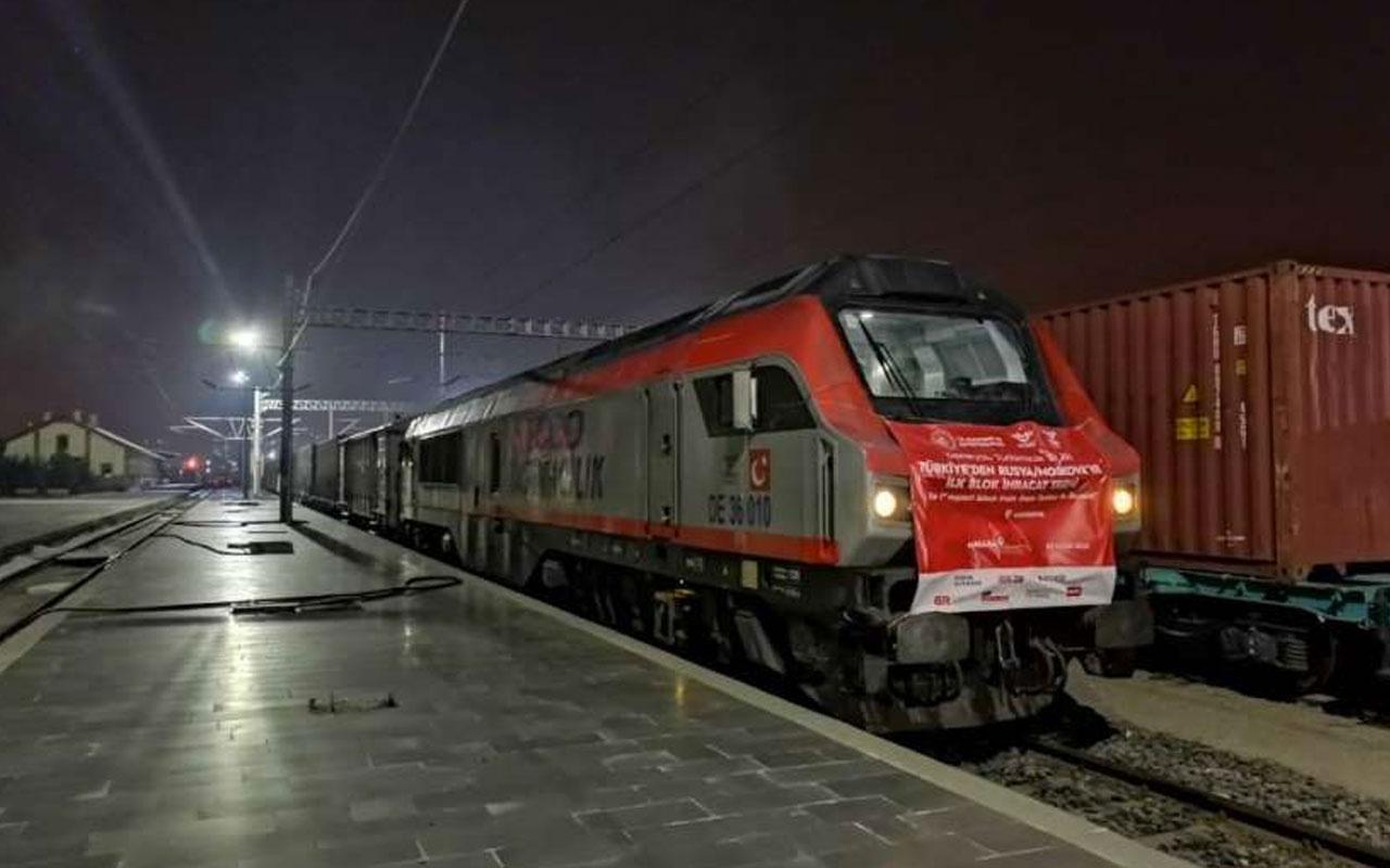Rusya'ya giden ilk blok ihracat treni Moskova'da seferini tamamladı