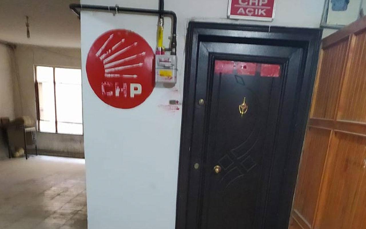 CHP İskilip ilçe binasına boyalı saldırı