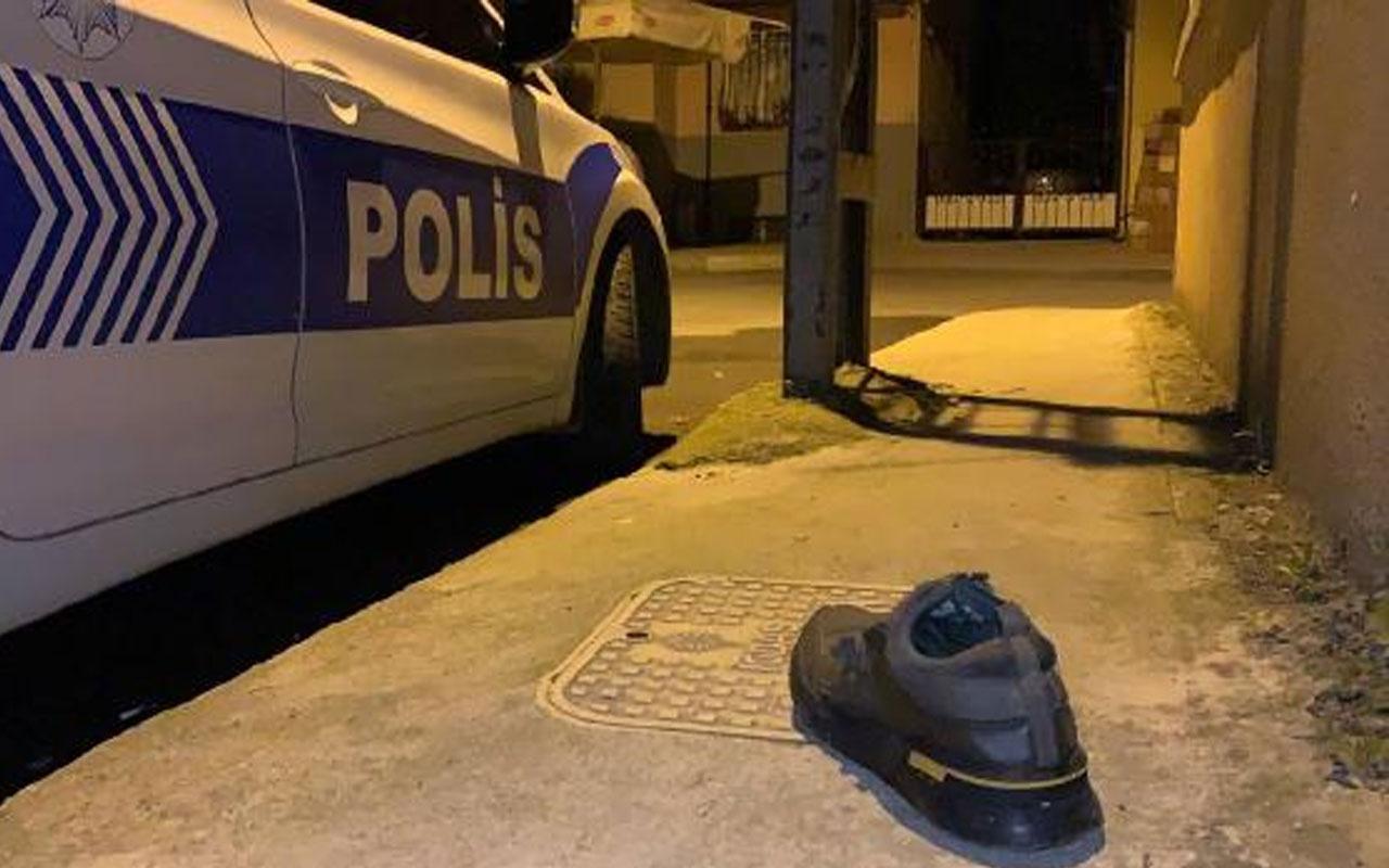 Pendik'te kavga ihbarına giden polislere fırlattılar! Halı, ayakkabı...