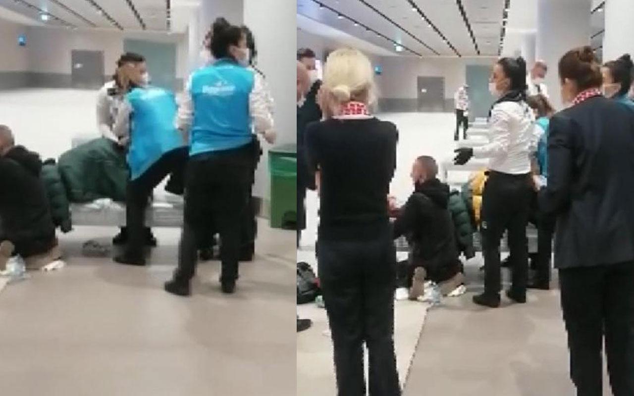 Hareketli saatler! Uçaktan inen yolcu İstanbul Havalimanı'nda doğum yaptı