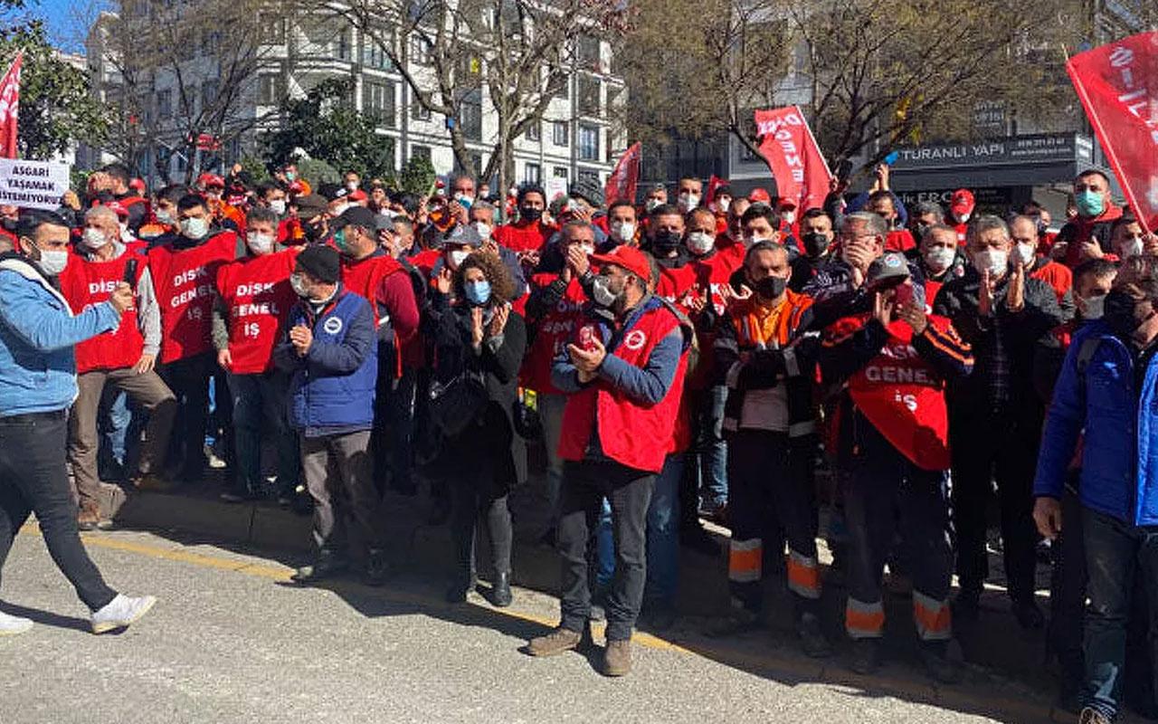 Genel-İş üyesi işçiler Maltepe Belediyesi'ne grev kararı astı tarih açıklandı