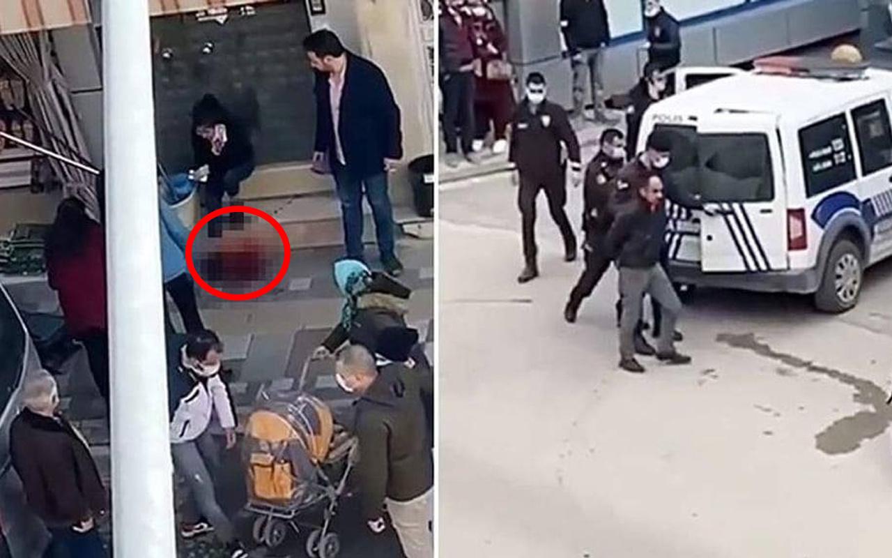 Afyonkarahisar'da babanın 16 yaşındaki kızını bıçakladığı görüntüler ortaya çıktı