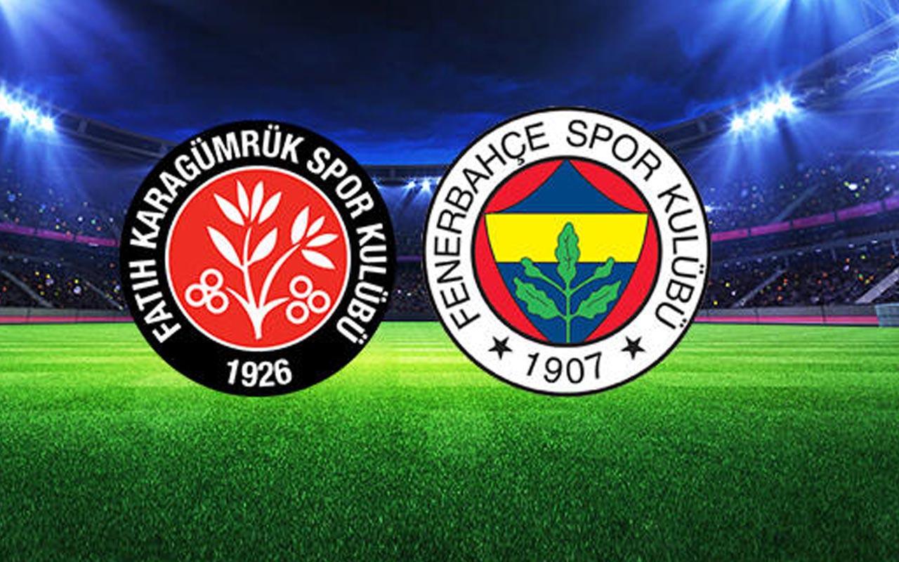 Fatih Karagümrük- Fenerbahçe maçı özet ve golleri