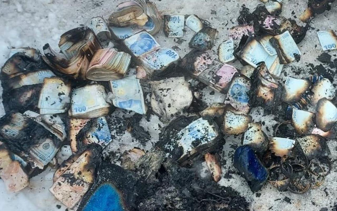 Kocaeli'de ev alev alev yandı! Tomar tomar para ve altınlar küle döndü