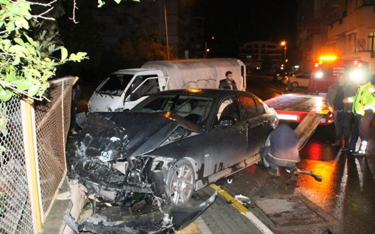 Antalya'da feci kaza! Kulağı koptu hastaneye gitmek istemedi
