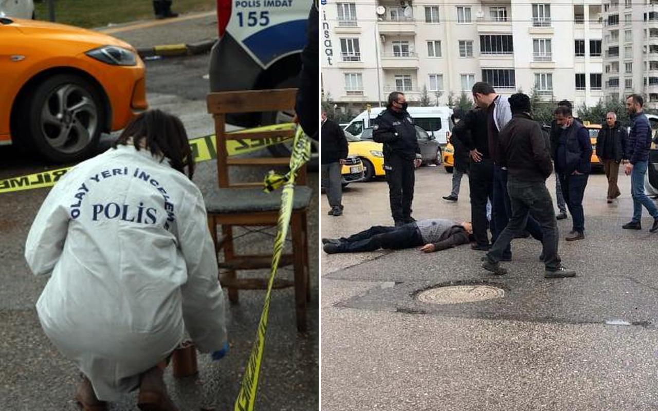 Gaziantep'te muhtar kuzenden taksi durağı önünde kanlı infaz!