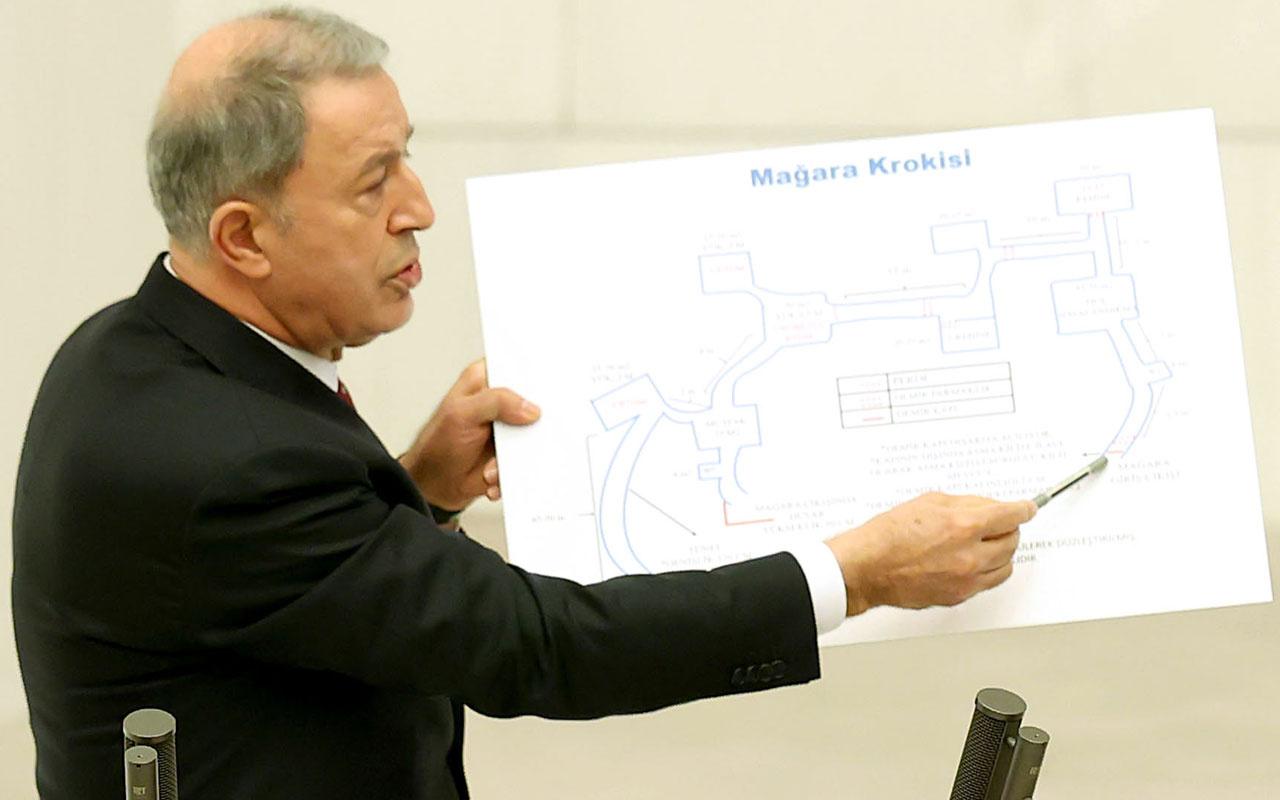 Hulusi Akar Gara mağarasını gösterdi TBMM'de detayları anlattı