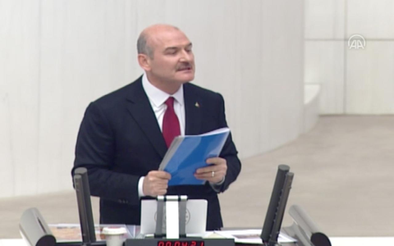 Süleyman Soylu HDP sıralarına dönüp dişlerini sıkarak yemin etti