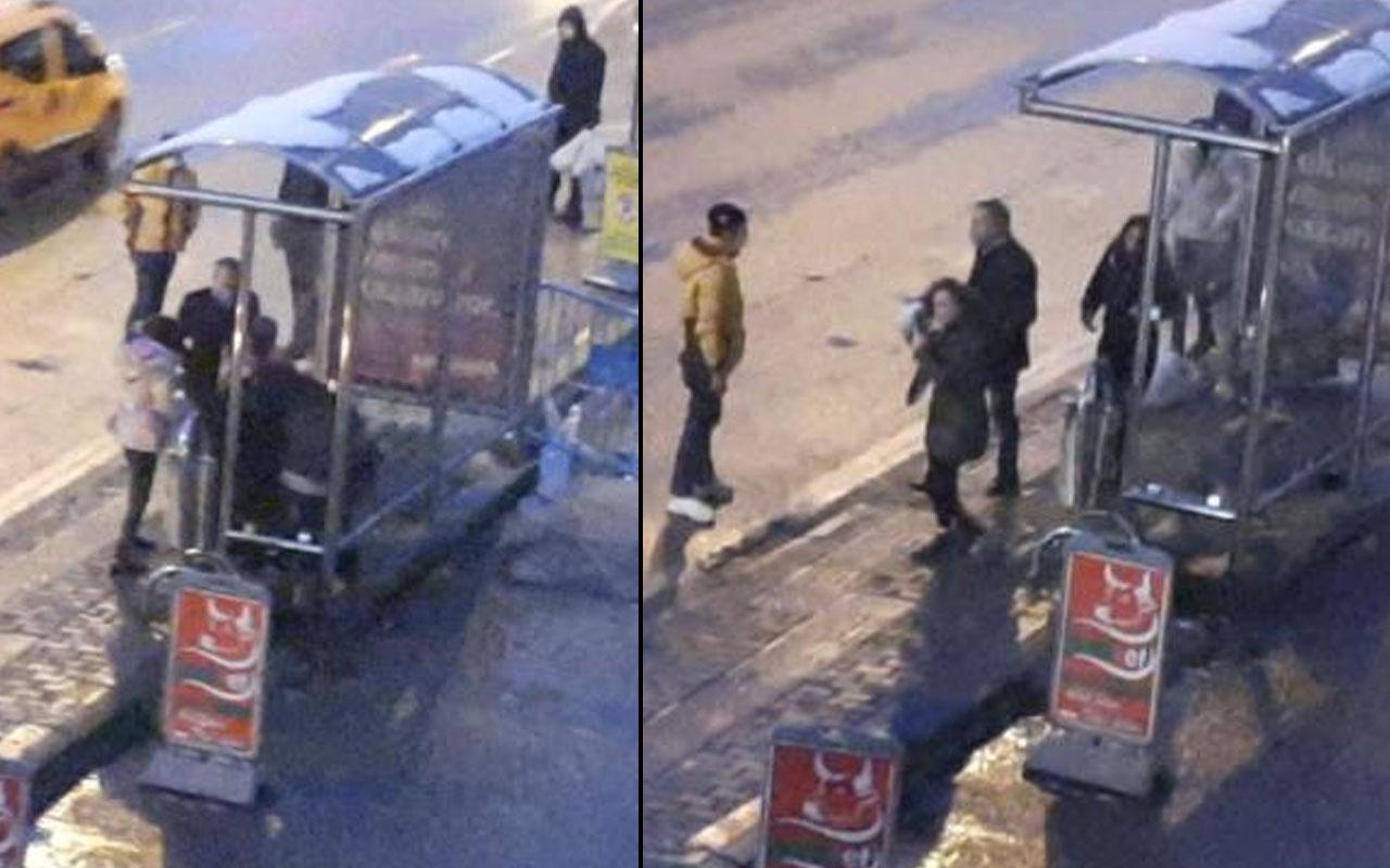 Zonguldak'ta 2 genç kız birbirine girdi! Tekme ve tokatlar havada uçuştu