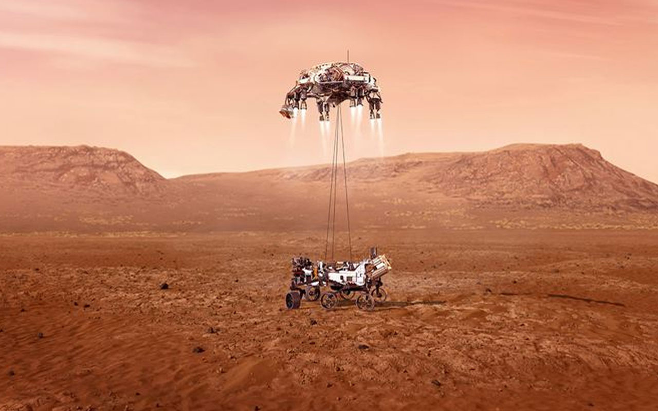 NASA'nın uzay aracı Mars'a iniş yaptı