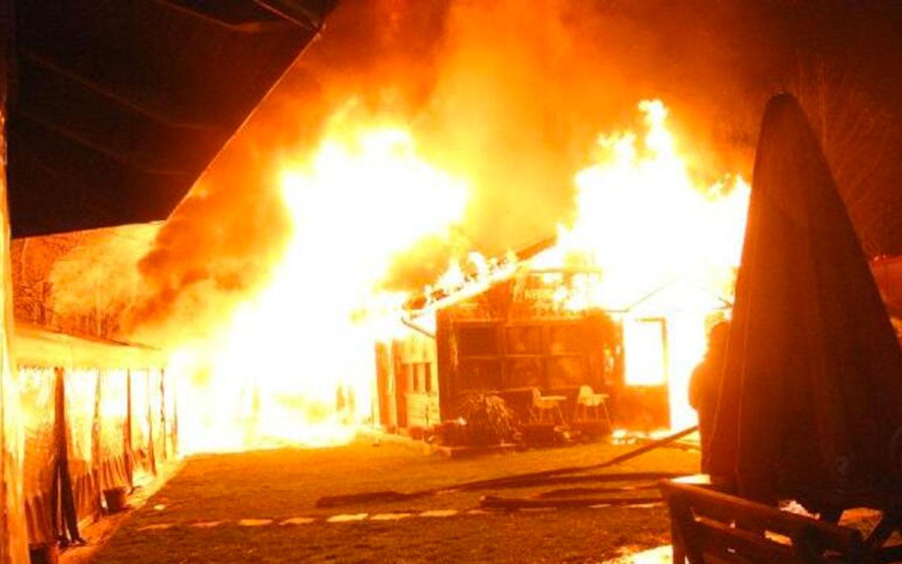 Boğaziçi Üniversitesi'ndeki kafeteryada yangın çıktı
