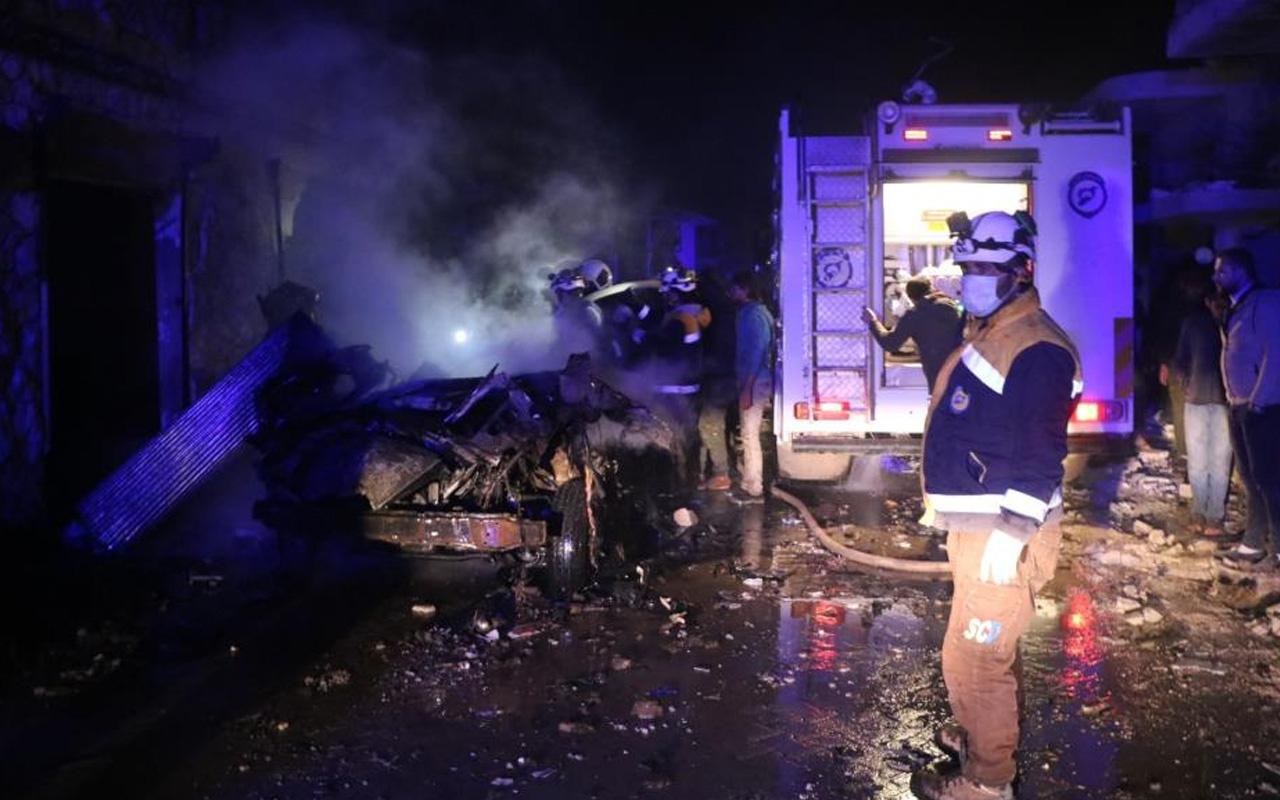 Suriye'de bombalı yüklü araç infilak etti! Terör saldırısında 5 kişi yaralandı